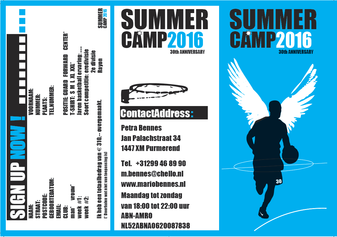 Summer basketball camp 2016