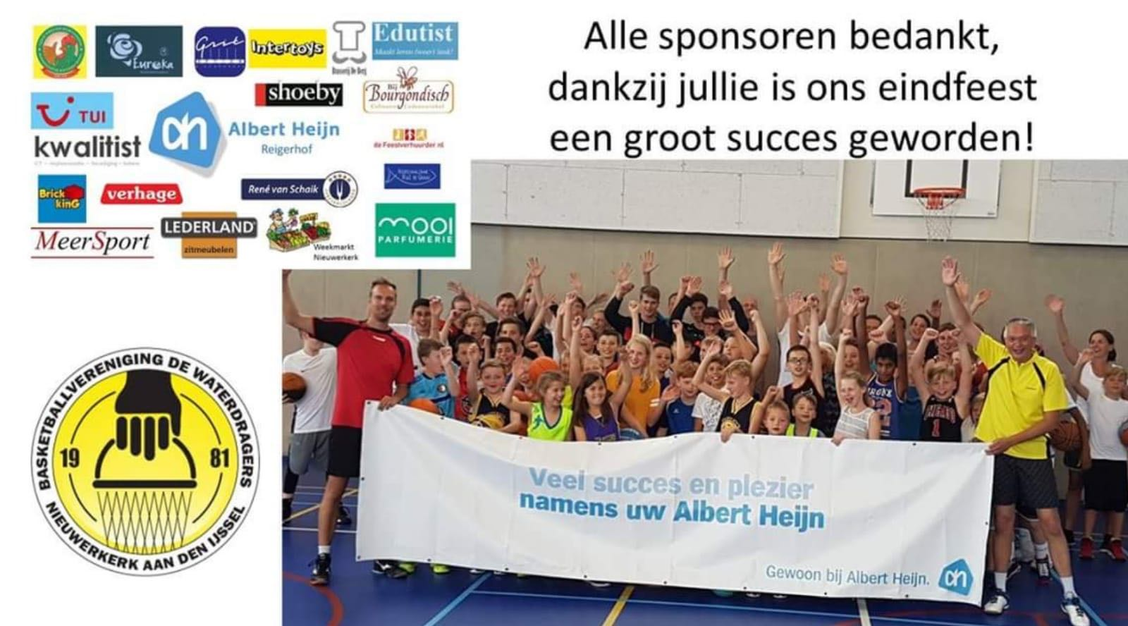 Bedankt sponsoren eindfeest